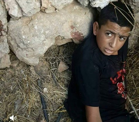 Usama Zeidat, age 14 or 15, wounded by Israel. (1)