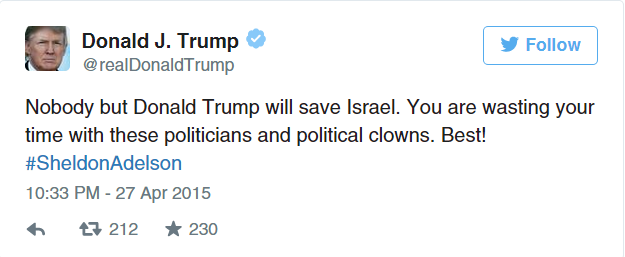 IPNOT QUOTE OF THE DAY November 11th 2016: WHAT DONALD TRUMP PROMISED TO ISRAEL