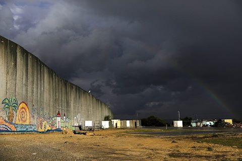 IPNOT Picture of the Day from February 13th 2017: Rainbow Over Gaza BorderWall