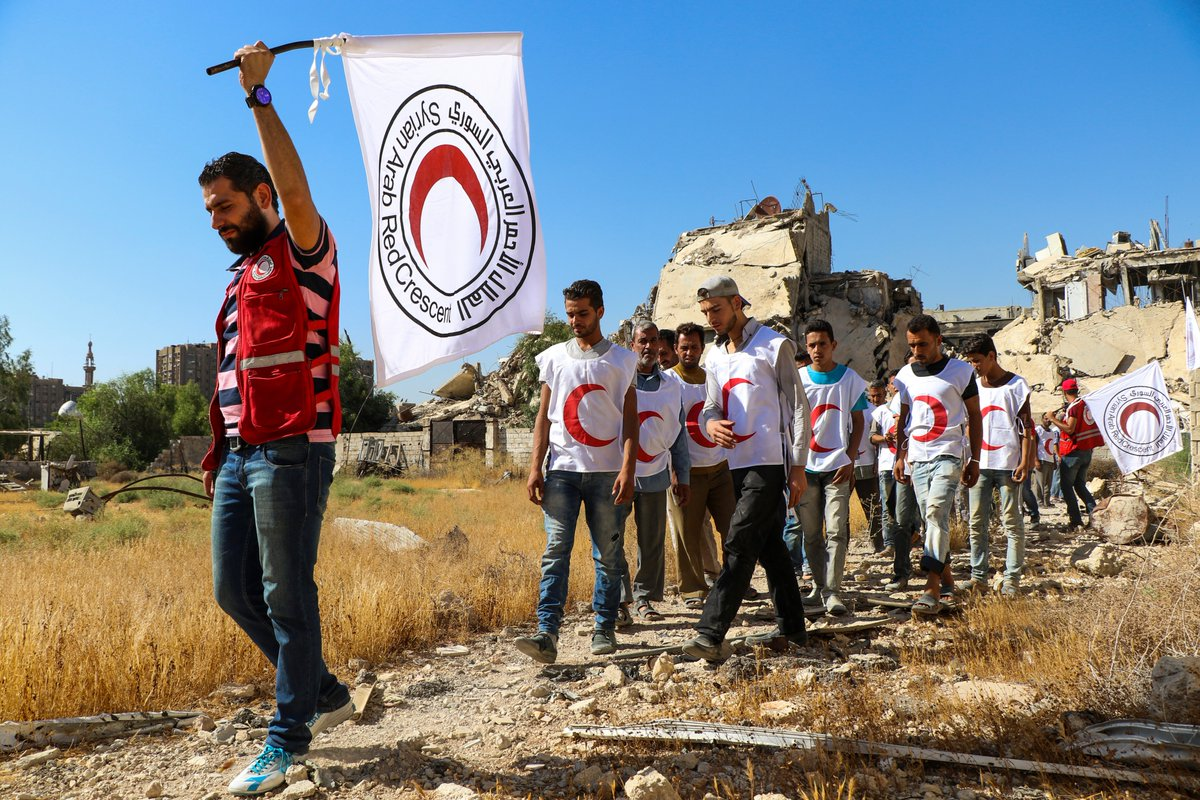 AID REACHES PARTS OF YARMOUK PALESTINIAN REFUGEE CAMP IN DAMASCUS FIRST TIME INMONTHS