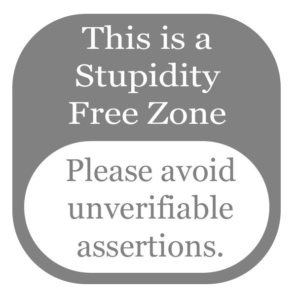 stupidity free zone