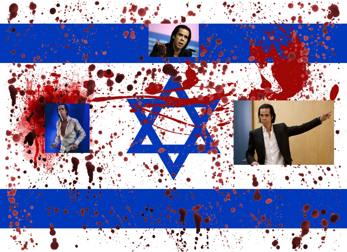NICK CAVE, APARTHEID ISRAEL'S NEW SPEARHEAD FOR THE OCCUPATION AND ETHNIC CLEANSING OFPALESTINE