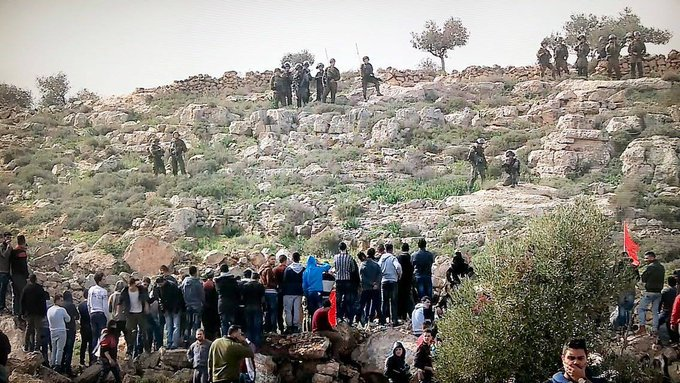 ISRAEL ATTACKS PROTEST AGAINST NEW ILLEGAL COLONY OUTPOST ON THE OCCUPIED WEST BANK(Updated)