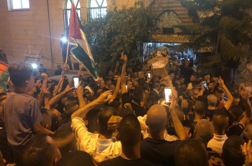 BURIAL OF PALESTINIAN CITIZEN OF ISRAEL KILLED IN OCCUPIED EAST JERUSALEM
