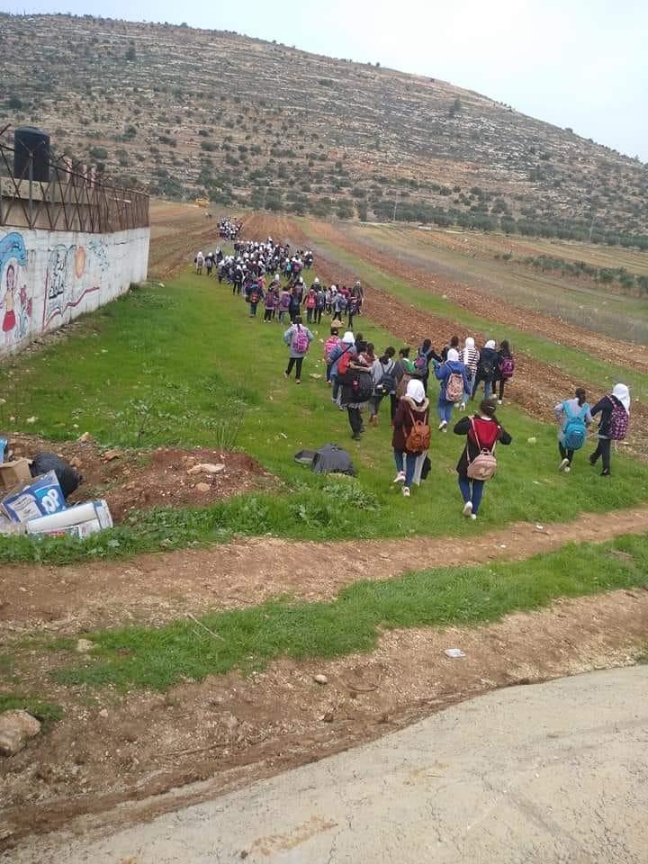 ILLEGAL ISRAELI SETTLERS FORCE EVACUATION OFSCHOOLS